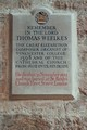 Cathedral Chichester Thomas Weelkes plaque<br/><p class=&quot;copy&quot;>Uploaded by <a href=&quot;/user/10&quot;>Ed Tervooren</a> [© Copyright may apply] — Classical Composers Database</p>