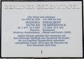 Berlin-Grunewald Humperdinck plaque<br/><p class=&quot;copy&quot;>Uploaded by <a href=&quot;/user/10&quot;>Ed Tervooren</a> [© Copyright may apply] — Classical Composers Database</p>